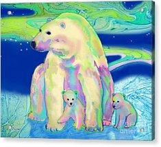 Polar Bear Aurora Acrylic Print