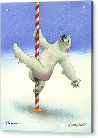 Pole Dancer... Acrylic Print by Will Bullas