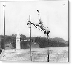 Pole Vaulter Working Out Acrylic Print