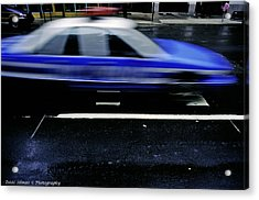 Police Chase Acrylic Print by Isaac Silman