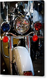 Police Harley Acrylic Print by David Patterson