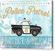 Police Acrylic Print by Jennifer Pugh
