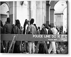 Police Line 1990s Acrylic Print by John Rizzuto