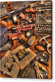 Police Officer - The Detective's Desk  Acrylic Print