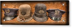 Police Officer - Vintage Police Hats Acrylic Print