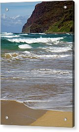 Polihale Beach And State Park Located Acrylic Print