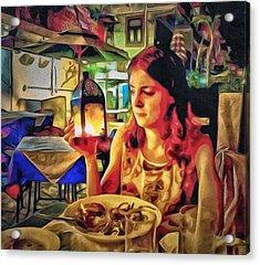 Polina At Lamma Island Acrylic Print by Yury Malkov