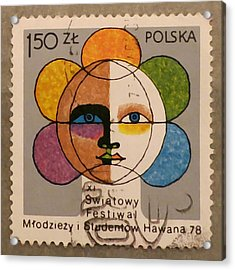 Polish Stamp - World Festival Of Youth And Students In Havana 1978 Acrylic Print
