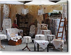 Polish Tableware Crafts Acrylic Print by Jacqueline M Lewis