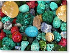 Polished Semi Precious Stones Acrylic Print