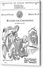 Political Cartoonist, 1918 Acrylic Print