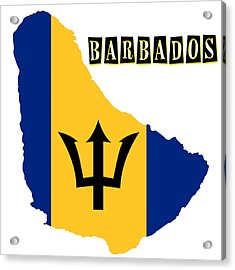Political Map Of Barbados Acrylic Print by Celestial Images