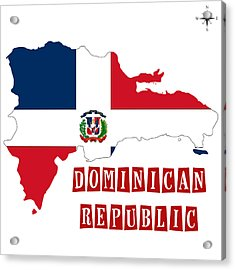 Political Map Of Dominican Republic Acrylic Print by Celestial Images