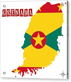 Political Map Of Grenada Acrylic Print by Celestial Images