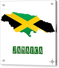 Political Map Of Jamaica Acrylic Print by Celestial Images