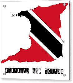 Political Map Of Trinidad And Tobago Acrylic Print by Celestial Images