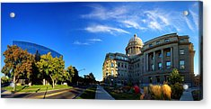 Acrylic Print featuring the photograph Political Warping by David Andersen