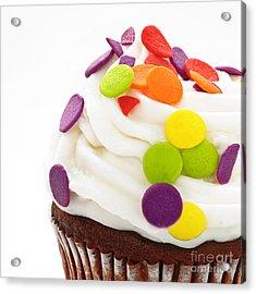 Polka Dot Cupcake Acrylic Print