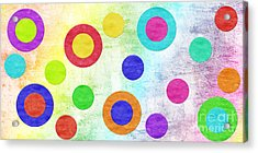 Polka Dot Panorama - Rainbow - Circles - Shapes Acrylic Print