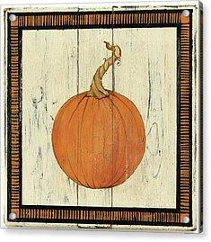 Polka Dot Pumpkin II Acrylic Print