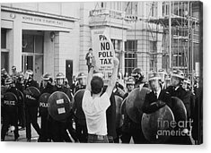 Poll Tax Riots London Acrylic Print