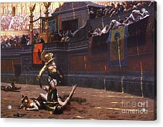Pollice Verso Acrylic Print by Pg Reproductions