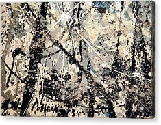 Pollock's Name On Lavendar Mist Acrylic Print