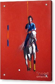 Polo Player Acrylic Print by Sandy Linden