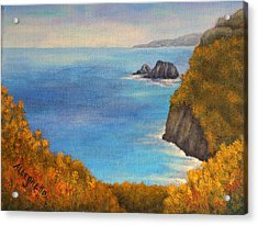 Pololu Valley Lookout Acrylic Print by Pamela Allegretto
