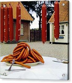 Polser Sausages Acrylic Print