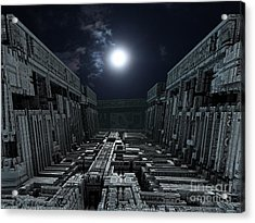 Polychrony Moonlight Acrylic Print by Bernard MICHEL