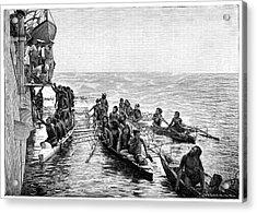 Polynesian Canoes Acrylic Print
