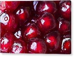 Pomegranate Closeup Acrylic Print by Alexander Senin