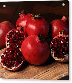 Pomegranate Acrylic Print by Cole Black
