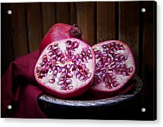 Pomegranate Still Life Acrylic Print by Tom Mc Nemar