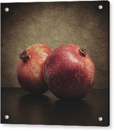 Pomegranate Acrylic Print by Taylan Apukovska