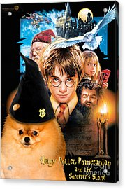 Pomeranian Art Canvas Print - Harry Potter Movie Poster Acrylic Print