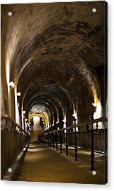 Pommery Champagne Winery Passageway Acrylic Print by Panoramic Images