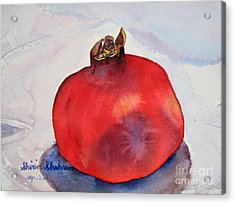Acrylic Print featuring the painting Pomogranate Punica Granatum by Shirin Shahram Badie