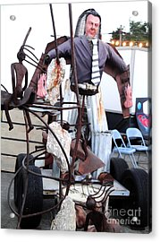 Pomona Art Walk - Metal Man Acrylic Print by Gregory Dyer