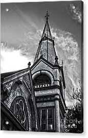 Pomona Seventh Day Adventist Church In Black And White Acrylic Print by Gregory Dyer