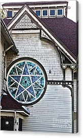 Pomona Seventh Day Adventist Church Stained Glass Acrylic Print by Gregory Dyer