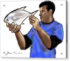 Pompano Catch Of The Day Acrylic Print