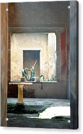 Acrylic Print featuring the photograph Pompeii Courtyard by Marna Edwards Flavell