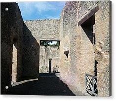 Pompeii Ruins I Acrylic Print by Shesh Tantry