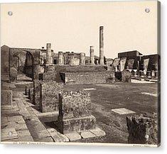 Pompeii Temple Of Jove Acrylic Print