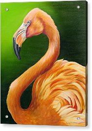 Acrylic Print featuring the painting Pompous by Phyllis Beiser