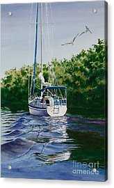 Acrylic Print featuring the painting Ponce De Leon Passage by Karol Wyckoff