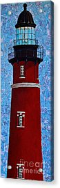 Acrylic Print featuring the mixed media Ponce Inlet Lighthouse by Melissa Sherbon