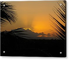 Acrylic Print featuring the photograph Ponce Sunrise by Daniel Sheldon